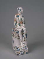 Seated Female Nude on plinth; PW05 (original coloured ceramic) £480 plus delivery