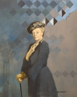 Maggie Smith (oil on board framed  101 x 86cm) £3000 plus delivery