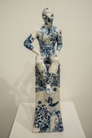 Pierre Williams, Seated Male Nude Plinth (Original Ceramics) £550 Plus Delivery