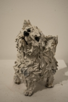 Westie (raku fired ceramics) Sold