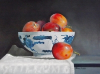 Plums and Chinese Bowl