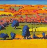 Teme Valley III (acrylic on board 78 x 78cm framed) Sold by Paul Powis