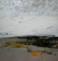 Trackway (oil and mixed media on board 72 x 72cm framed) £1850