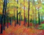 Forest in Autumn (acrylic on canvas framed 76 x 60cm) £470