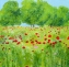 Sunny Summer Meadow (79 x 79 cm Acrylic on Canvas) £550