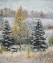First Snow (64 x 55cm, oil on canvas) £700 Plus delivery